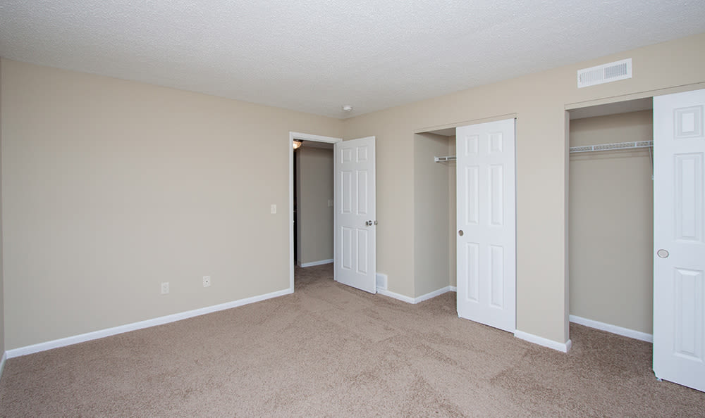 Large bedrooms with ample closet space at Bavarian Woods in Middletown