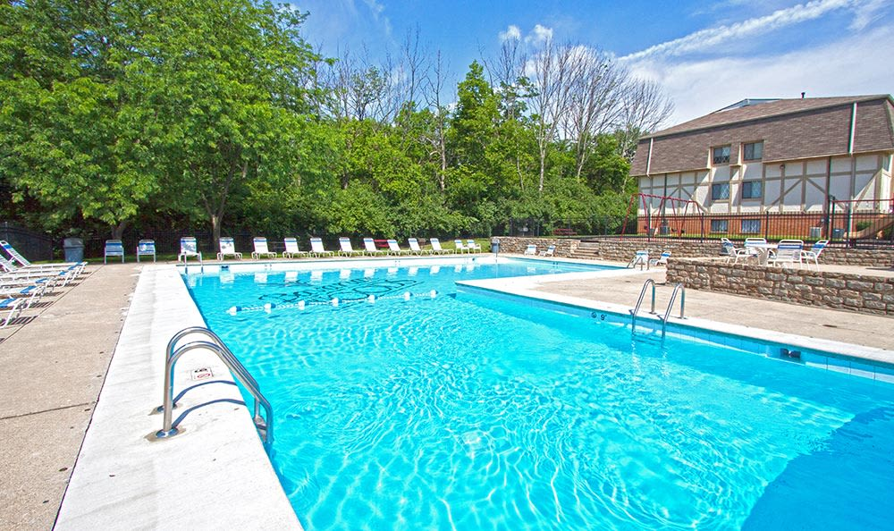 The swimming pool beckons at Bavarian Woods in Middletown