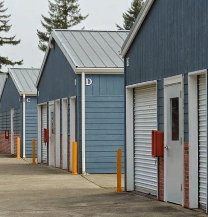 Exterior view of units at Capitol City Storage