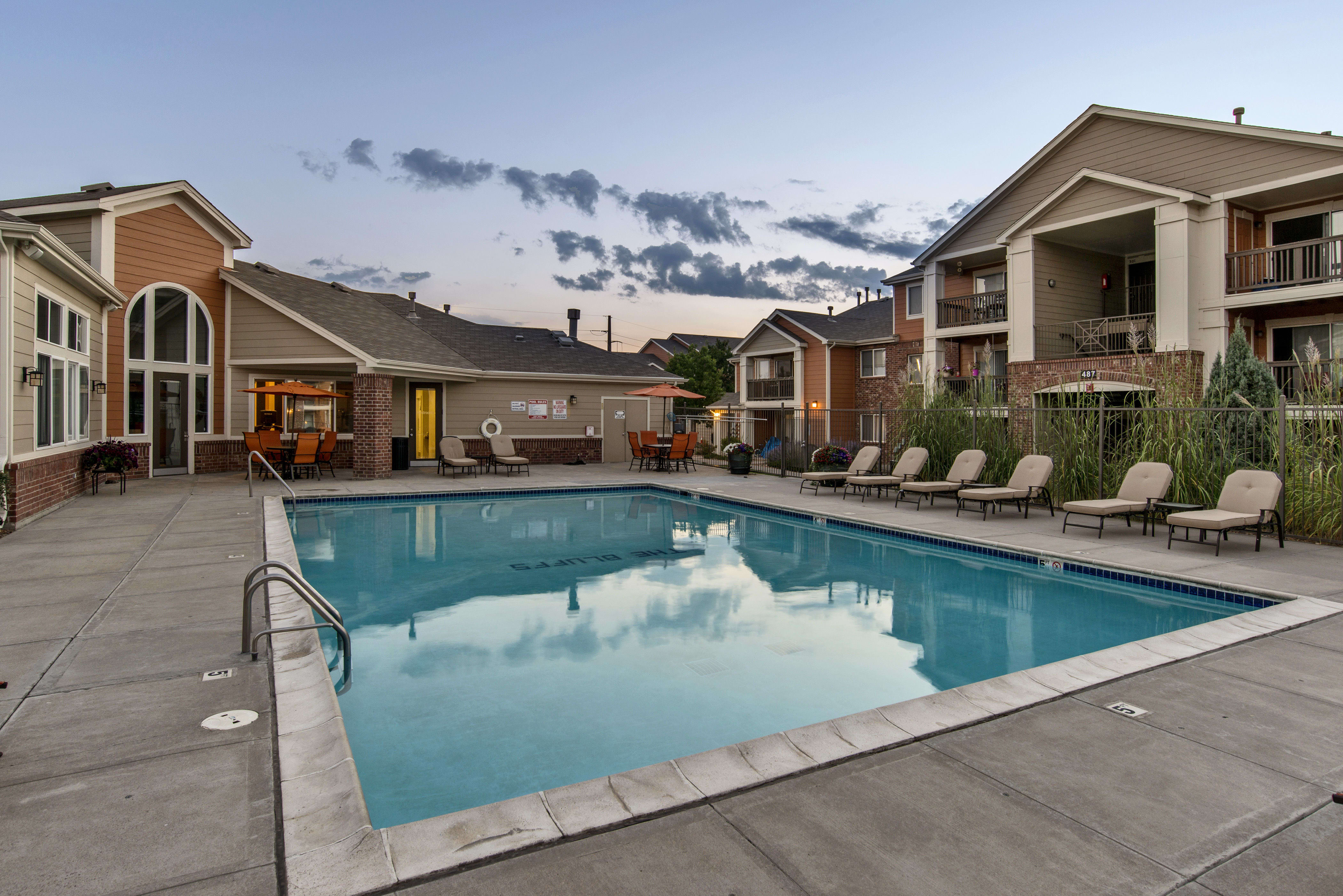 Pool at The Bluffs at Castle Rock Apartments