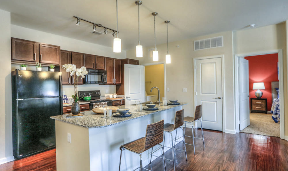 Kitchen at Victory North Apartments