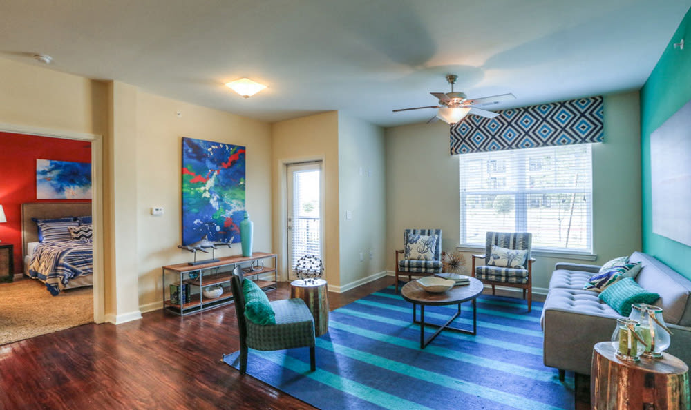Living Room at Victory North Apartments