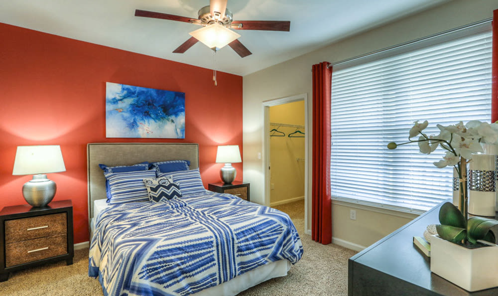 Bedroom at Victory North Apartments