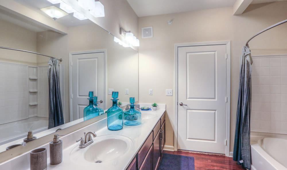 Bathroom at Victory North Apartments