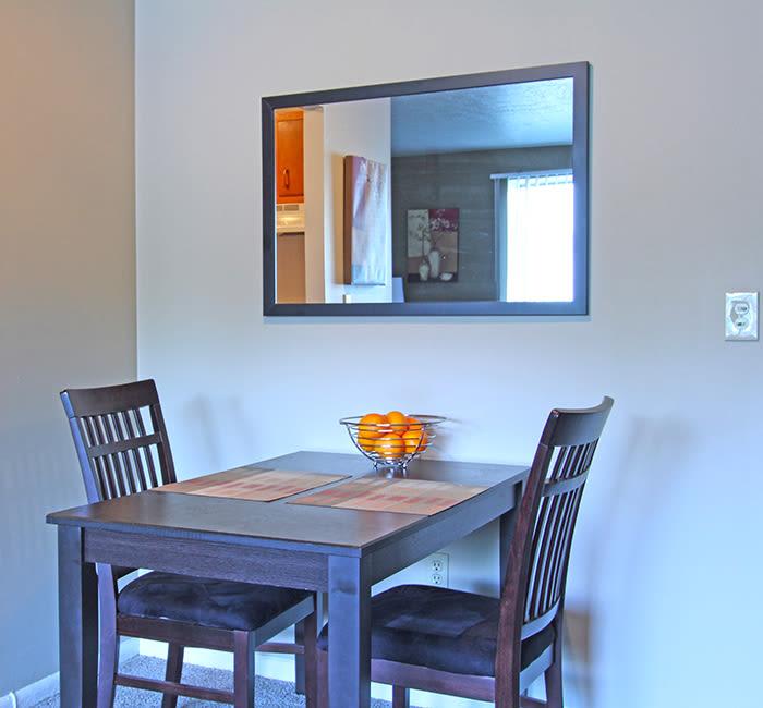 Breakfast nook in Columbus Park apartment home