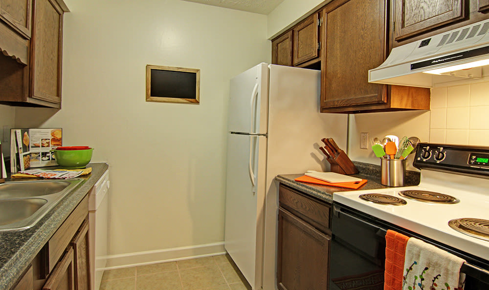 Your new kitchen at Cedarwood Village Apartments has everything you need to prepare delicious meals at home