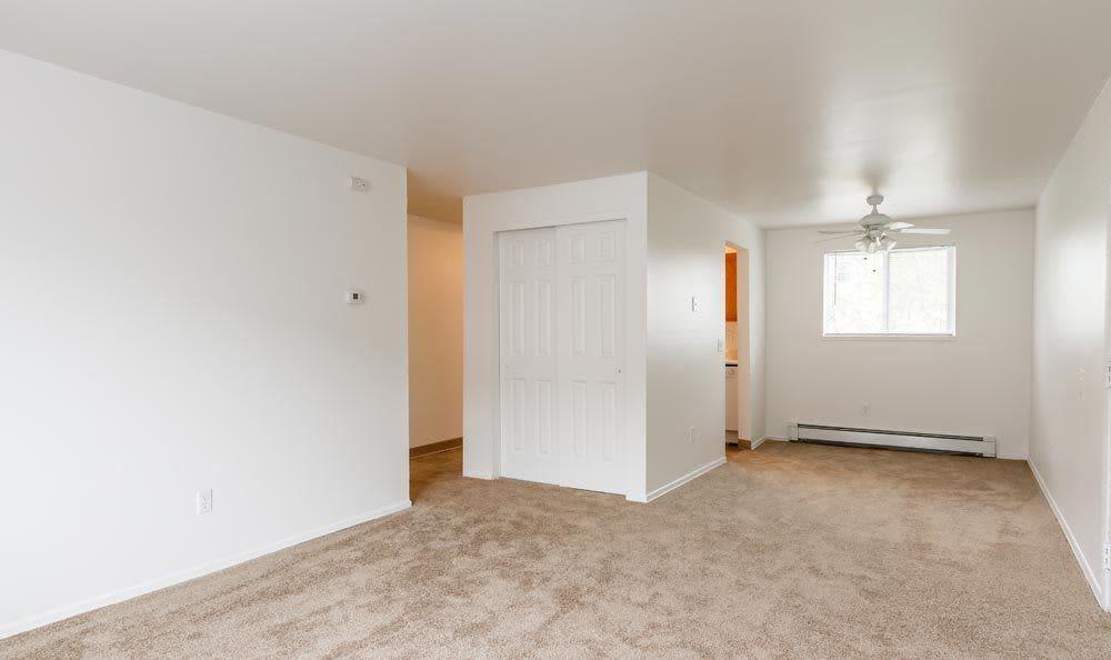 Spacious bedroom at Brockport Crossings Apartments & Townhomes in Brockport