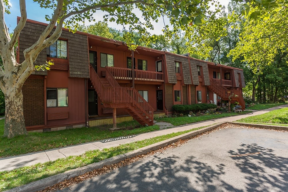 Front exterior view of apartment at Brockport Landing in Brockport