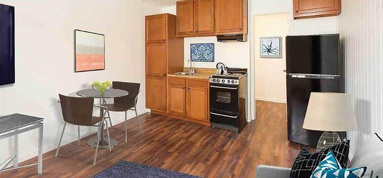 Modern kitchen at Brockport Landing home