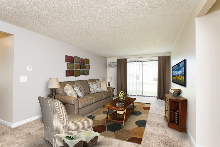 Spacious floor plans at Crossroads Apartments in Spencerport, NY