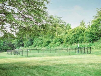 Dog park at Crossroads Apartments in Spencerport, New York