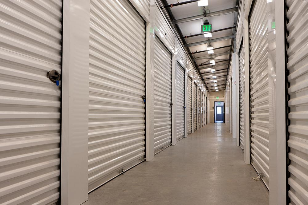 Interior of self storage at Five Star Storage