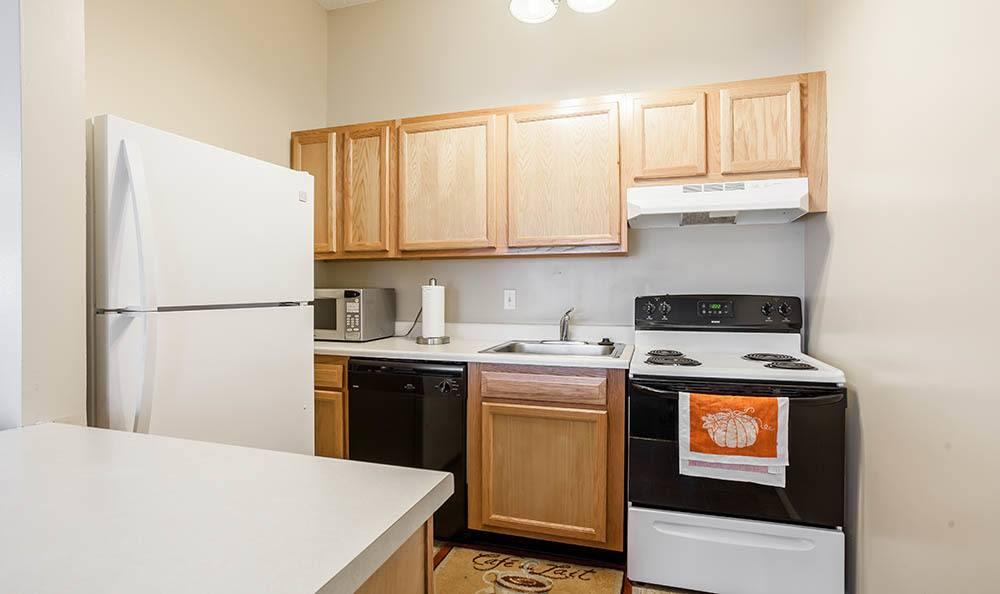 Modern kitchen at Hilton Village II Apartments in Hilton