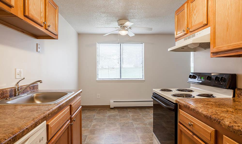 Fully-equipped kitchen at Hilton Village II Apartments in Hilton