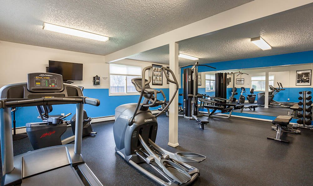 Stay healthy in our fitness center at Hilton Village II Apartments