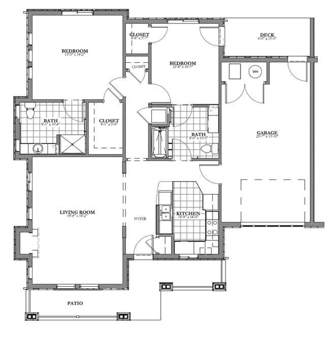 Cottage Independent Living Floor Plan