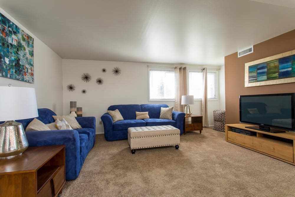 Our apartments in Cheektowaga, New York have a cozy living room