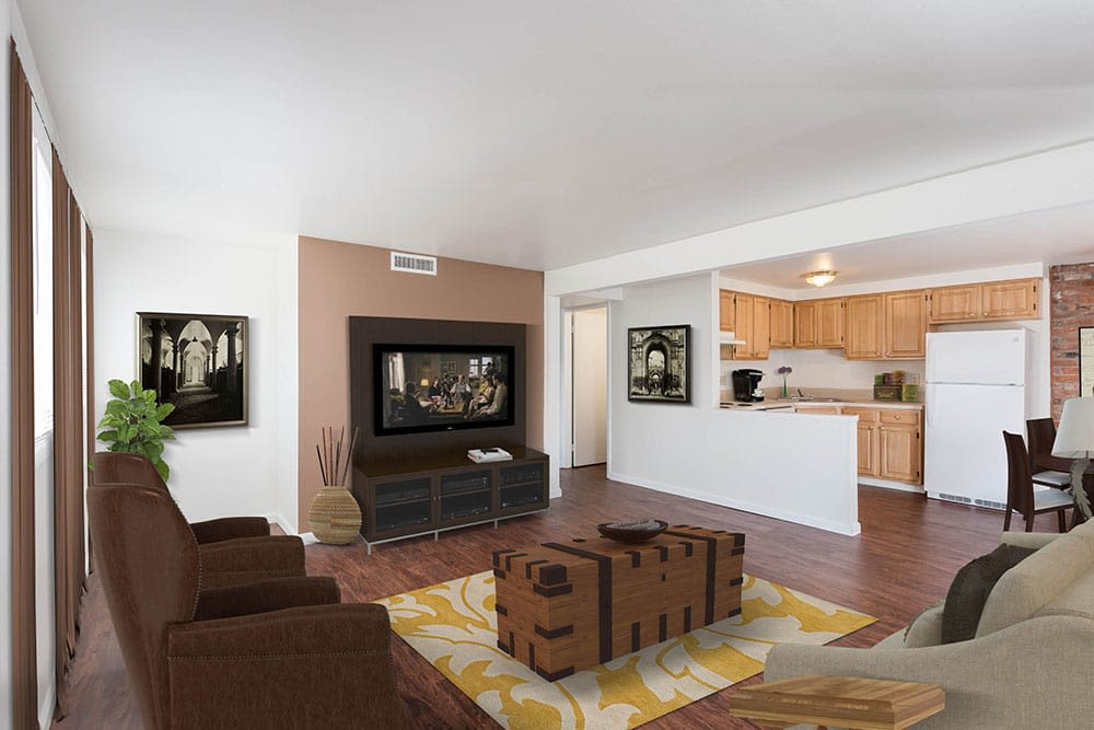 Living room at Idylwood Resort Apartments