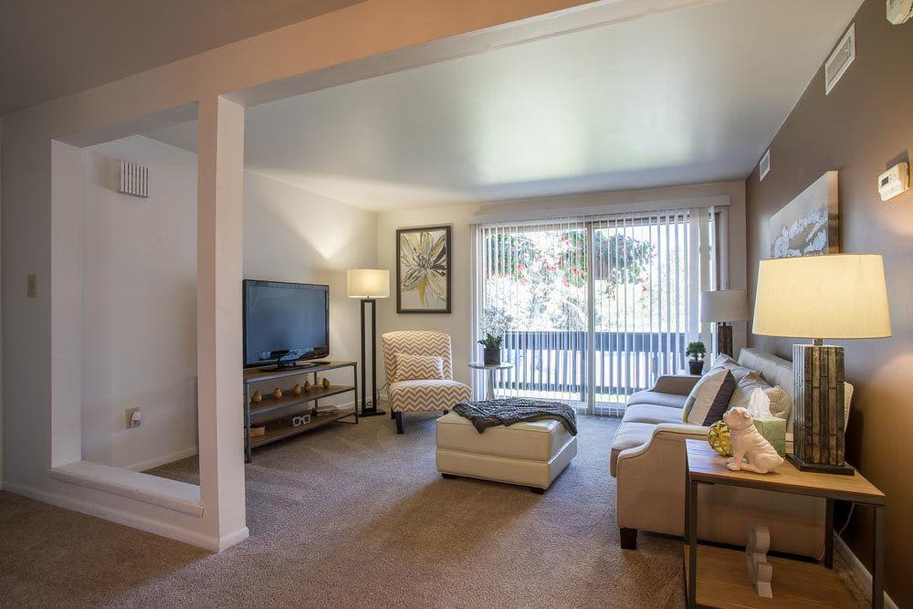 Enjoy a cozy living room at Idylwood Resort Apartments