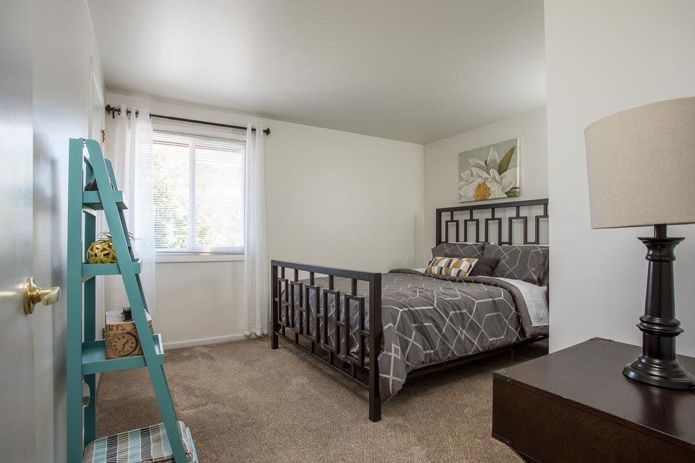 Bedroom at Idylwood Resort Apartments home in Cheektowaga, NY