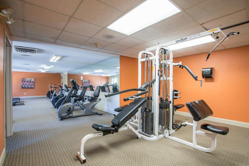 Stay healthy in our fitness center at Idylwood Resort Apartments in Cheektowaga, New York