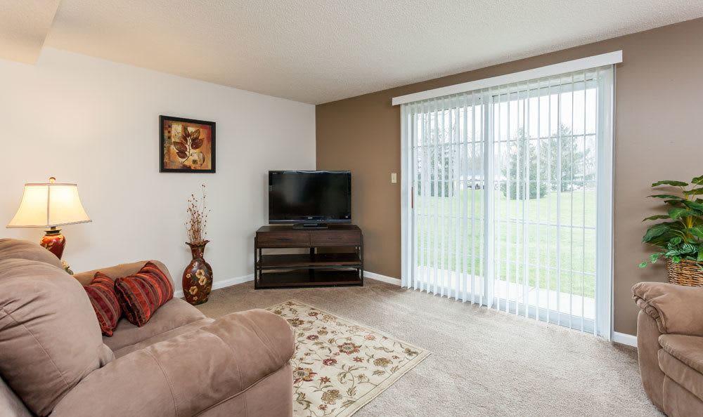 Living room at Maplewood Estates Apartments in Hamburg, NY