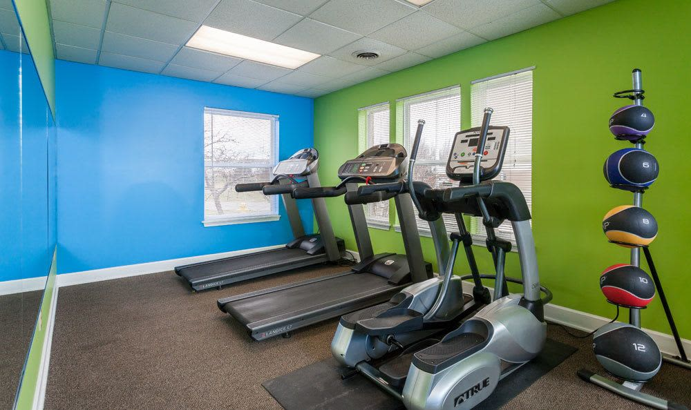 Stay healthy in our fitness center at Maplewood Estates Apartments in Hamburg, NY