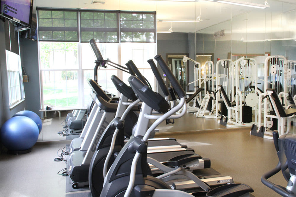 Renovated fitness center at Highlands at Morris Plains in Morris Plains, New Jersey