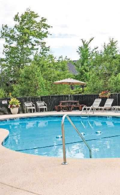 Swimming pool at Maplewood Estates Apartments in Hamburg, New York
