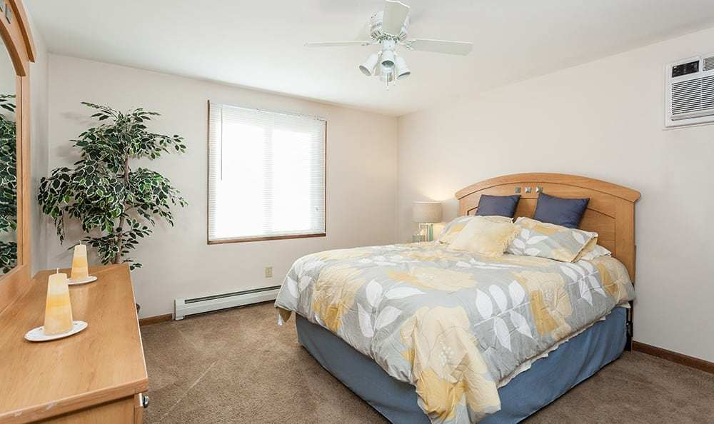 Well decorated bedroom at Paradise Lane Apartments in Tonawanda