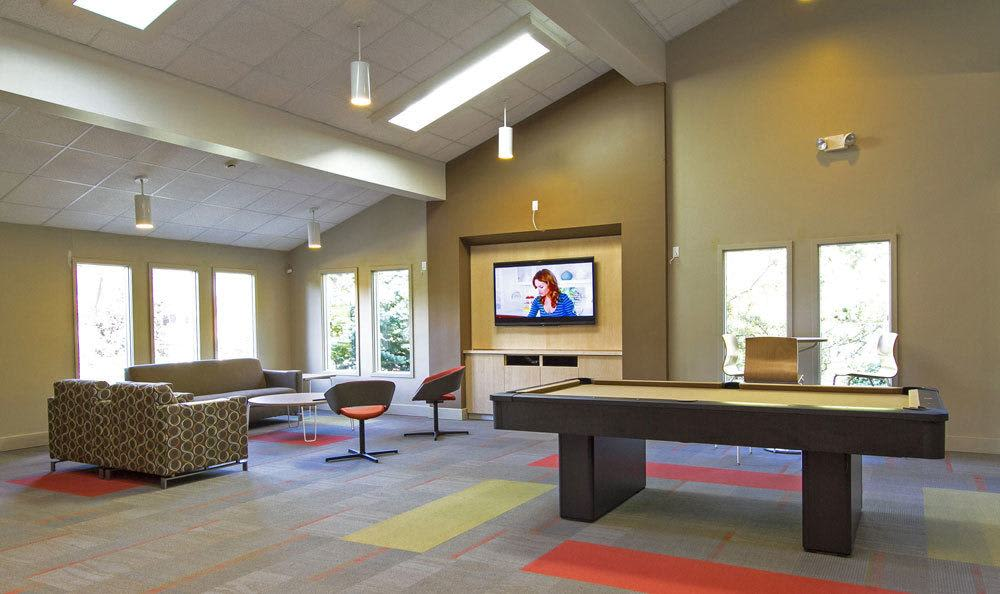 Clubhouse interior at Paradise Lane Apartments in Tonawanda, NY
