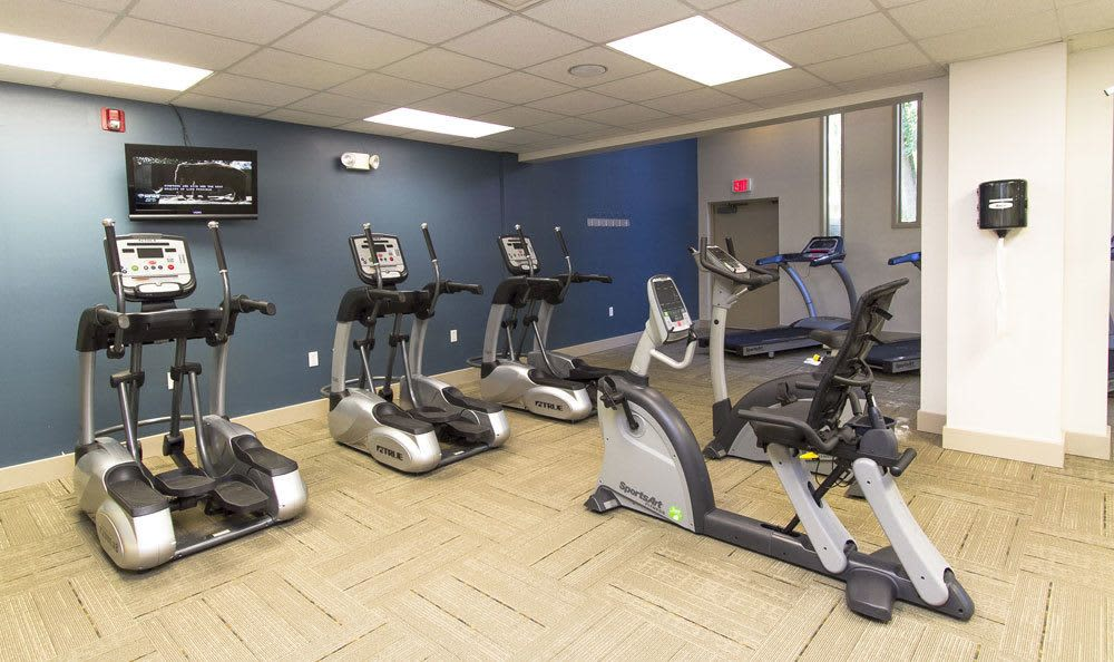 Stay healthy in our fitness center at Paradise Lane Apartments