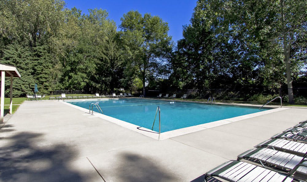 Sparkling swimming pool at Paradise Lane Apartments in Tonawanda, NY
