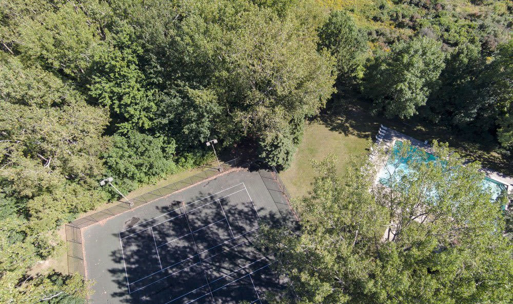 Swimming pool's aerial view in our community in Tonawanda, NY