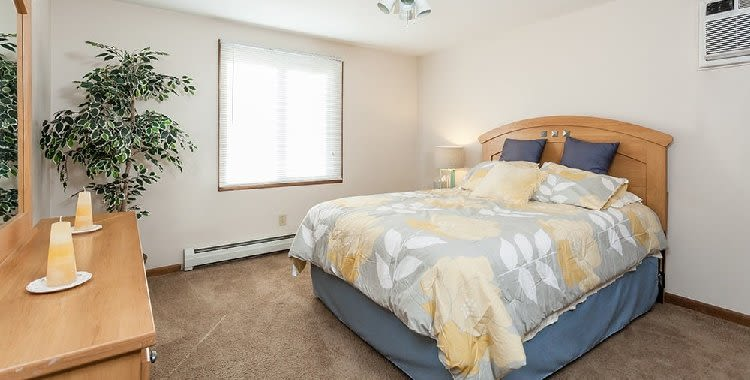 Well decorated bedroom at Paradise Lane Apartments home in Tonawanda