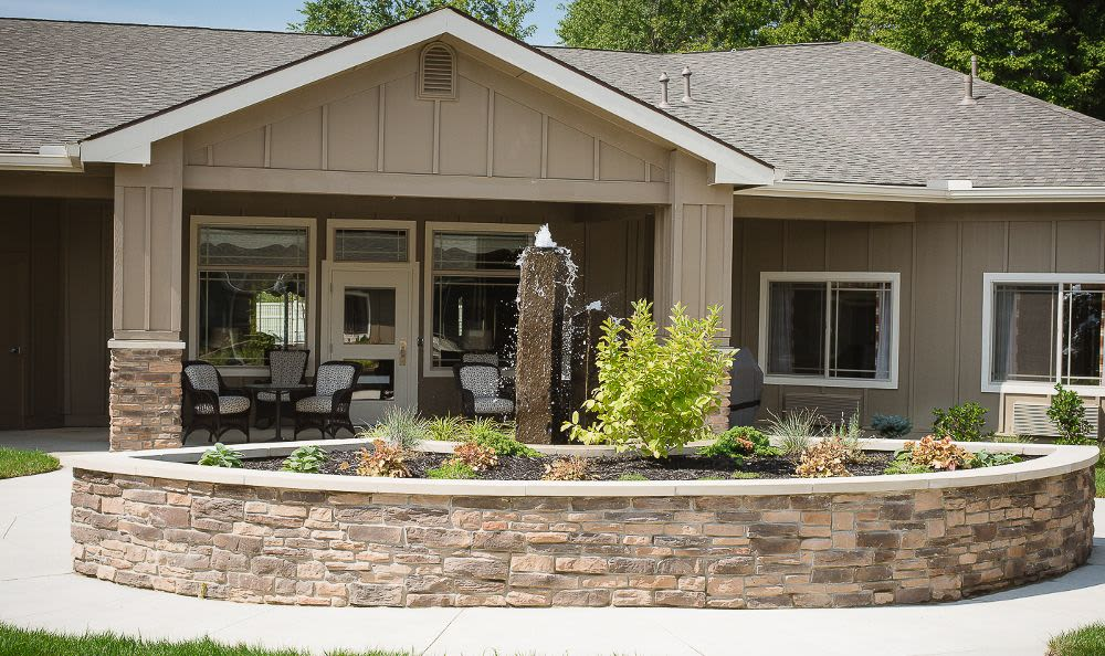 Beautiful exterior view of Cardinal Court Alzheimer's Special Care Center in Strongsville, OH