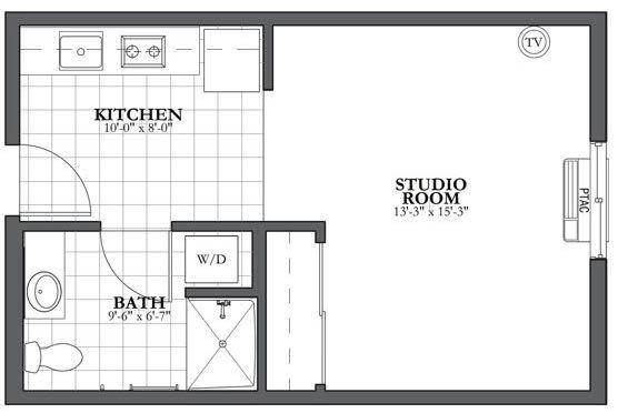 Studio Independent Living Floor Plan