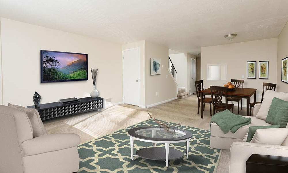 Our apartments in Brockport, New York showcase a luxury living room