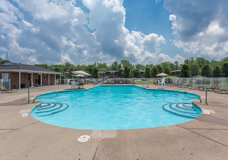 Sparkling swimming pool at Willowbrooke Apartments and Townhomes in Brockport, New York