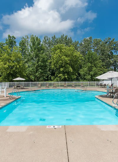 Pool at Willowbrooke Apartments and Townhomes in Brockport, New York