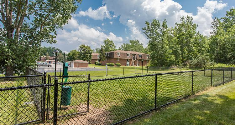 Dog park at Willowbrooke Apartments and Townhomes in Brockport, New York