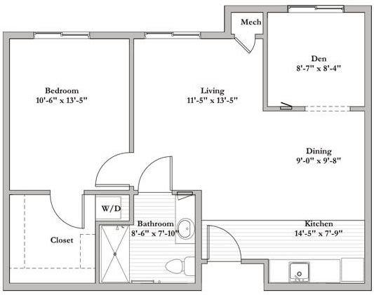 AL - E - 1 Bed 1 Bath