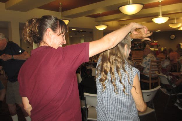 Enjoy dancing at The Vistas Assisted Living and Memory Care