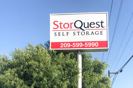 Outdoor Sign at StorQuest Self Storage in Ripon, CA