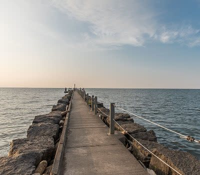 Pier at Webster Park and Lake Ontario