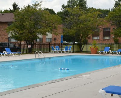 Swimming pool at Webster Manor Apartments in Webster, NY