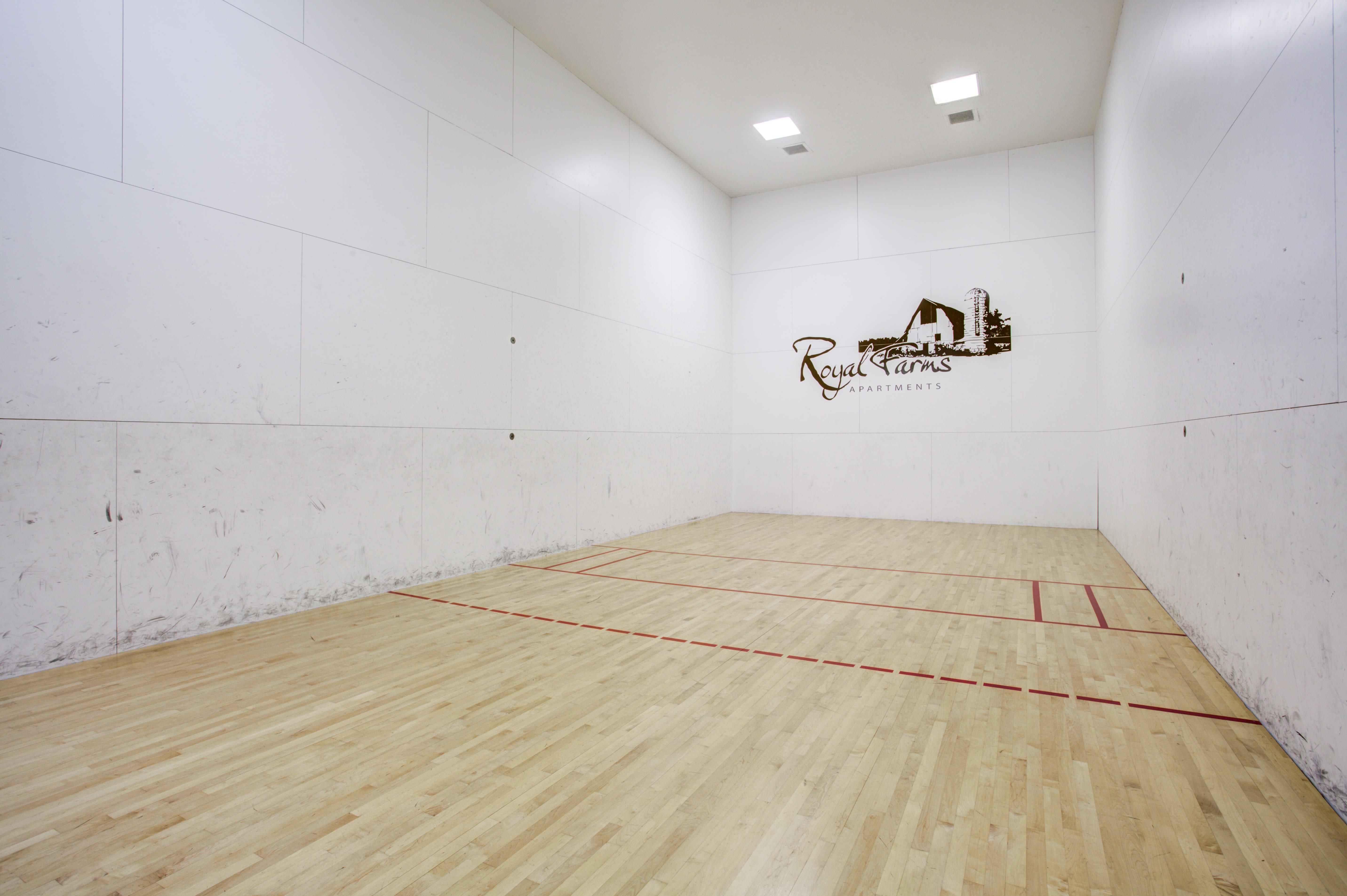 racquetball court at Royal Farms Apartments