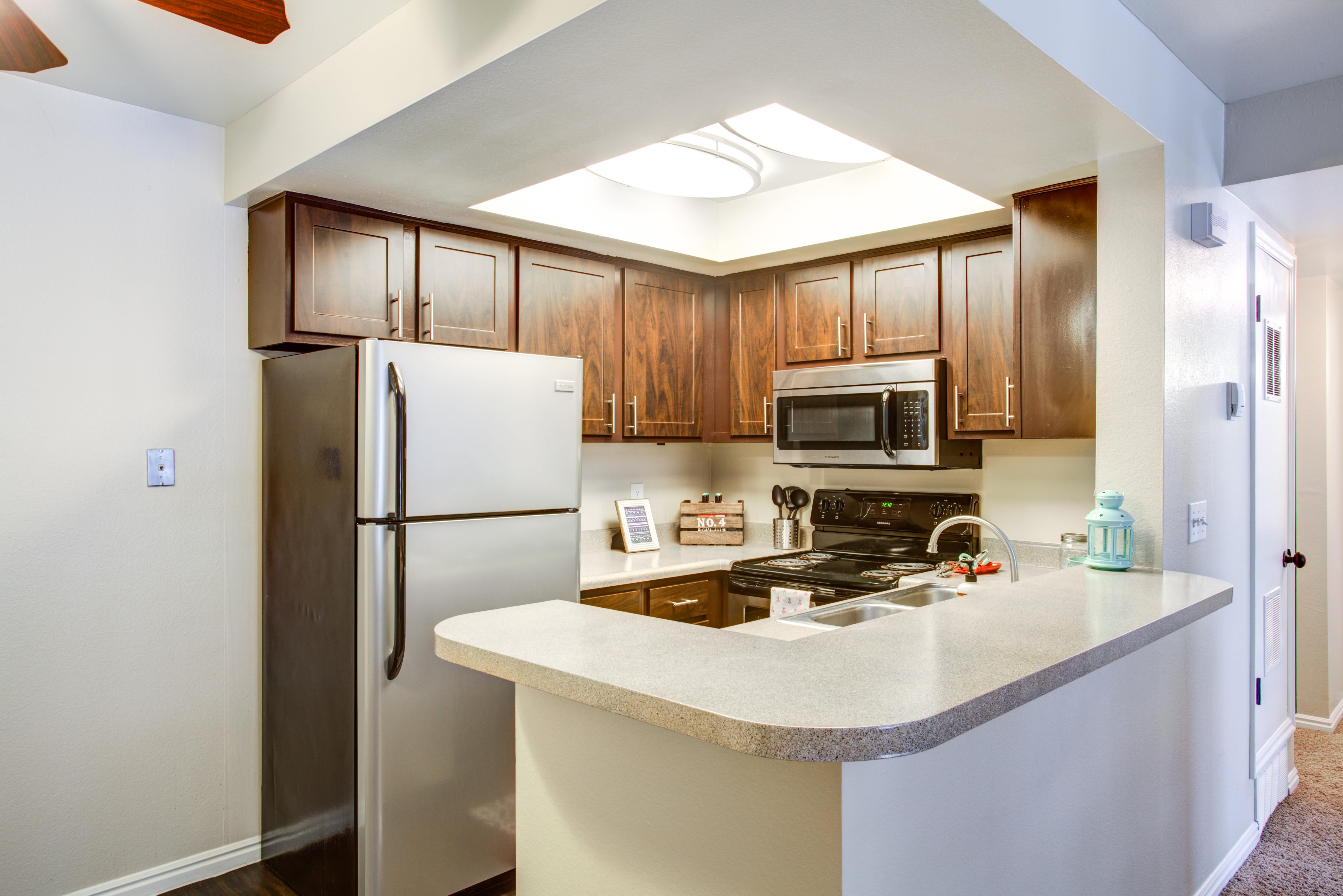 Updated kitchen at Royal Farms Apartments