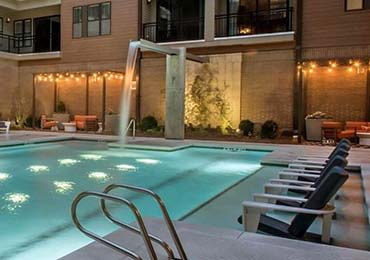 Luxurious pool at 675 N Highland