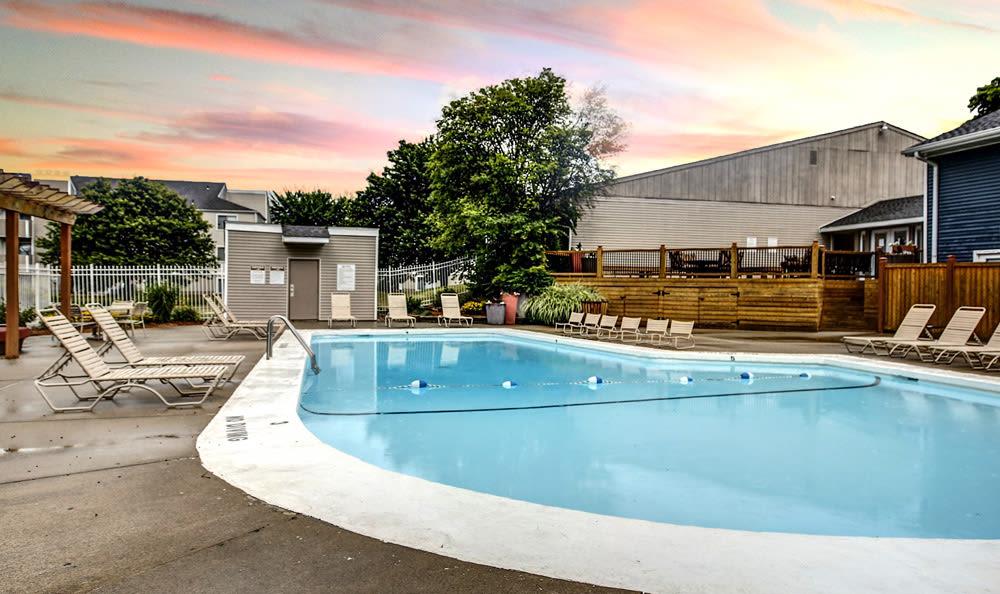 Pool Sunset at Chatham Hills Apartments